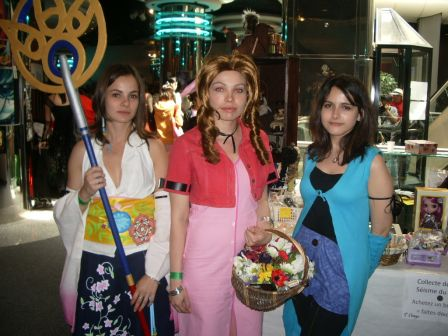 Cosplay Yuna, Aerith, Linoa, Final Fantasy MangAzur, mai 2011